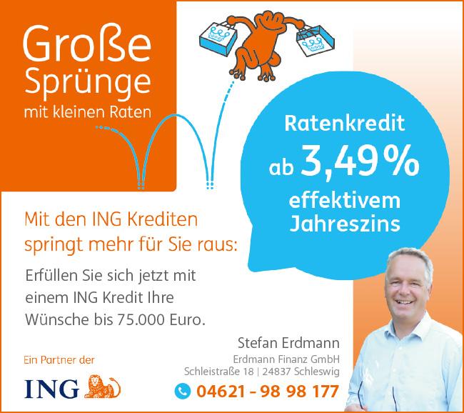 ING Anzeige Erdmann Finanzierung